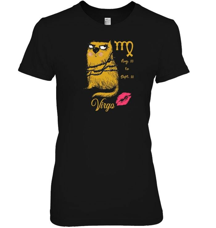 Funny Zodiacs For Cat Lovers Tshirt   Virgo image 1