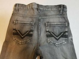 NWT Route 66 Boys Youth Slim Straight Jeans Size 12 Black Denim Pants image 5