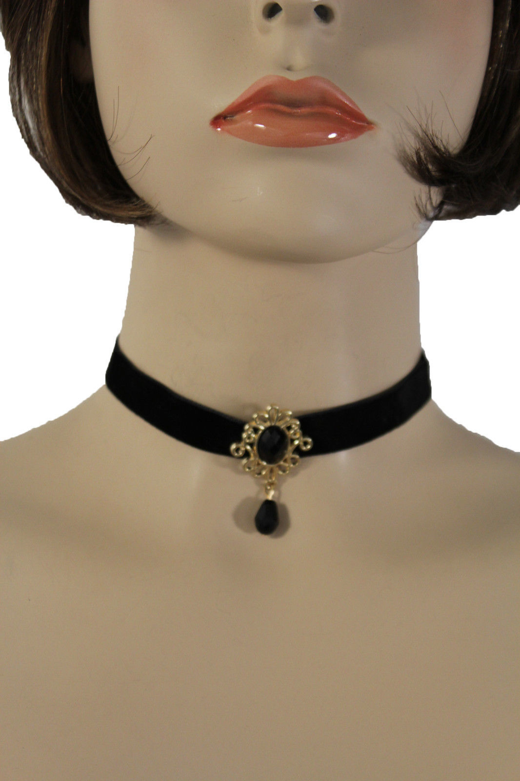 Para Dama de Oro Metal Vintage Estilo Charm Fashion Jewelry Gargantilla