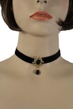 Para Dama de Oro Metal Vintage Estilo Charm Fashion Jewelry Gargantilla - $18.32