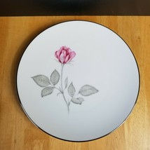 LOT of TWO Zylstra Rose China Salad Plates White Pink & Gray Roses Coupe... - $4.94