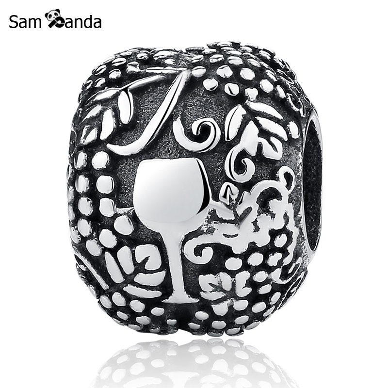 Primary image for Buy Authentic 100% 925 Sterling Silver Charm Bead Delicious Wine Charms Fit