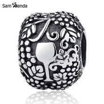 Buy Authentic 100% 925 Sterling Silver Charm Bead Delicious Wine Charms Fit - $13.99