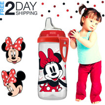 Minnie Mouse Sippy Cup Disney Active Spill-Proof Spout On-The-Go Clip BP... - $9.89