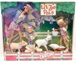 Vintage Barbie Lil Zoo Pals Dolls 1998 NIB Outdoor Fun Stacie Kelly 1962... - $35.64