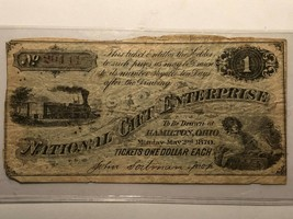 VINTAGE 1870 NATIONAL GIFT ENTERPRISE TICKET , HAMILTON, OHIO - $79.99