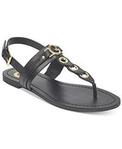 G by GUESS Lesha Women's Flat Sandals (7, Black)