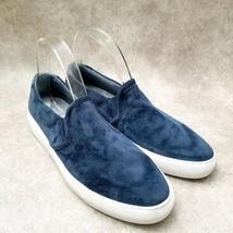 Skechers Womens Velveteen 49933 Sz 9.5 M Blue  Slip On Loafer Sneakers - $29.99