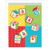 "ABC Birthday 6 1/2""W x 8 3/4""H Paper Treat Bag, Case of 120 - $49.53"