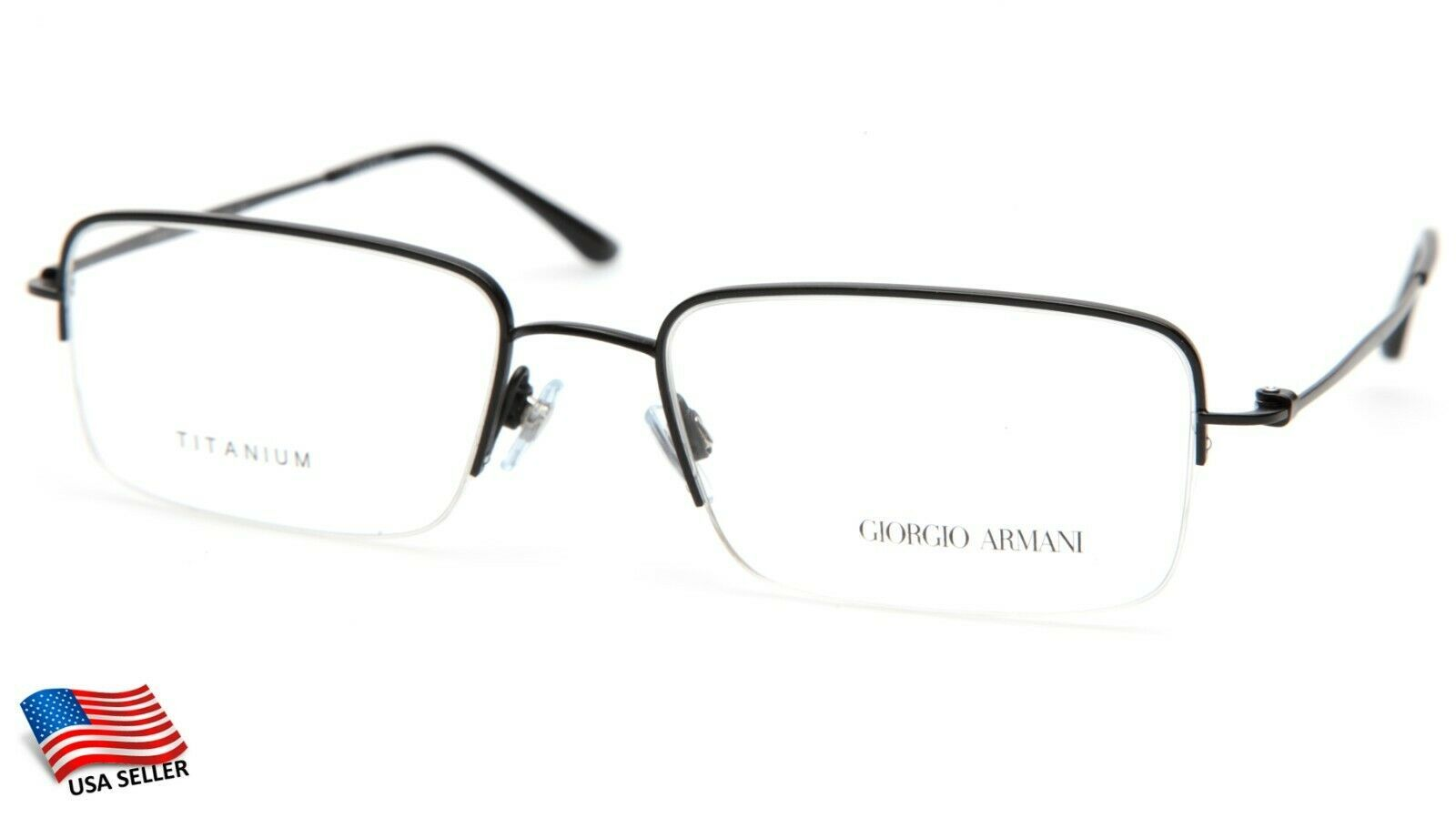 Primary image for NEW GIORGIO ARMANI AR5003-T 3001 BLACK EYEGLASSES FRAME 55-19-140 B35mm Italy