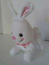 "Fisher Price White Rabbit Pink Bunny Soft Plush Baby Toy 5"" 95702 2012 - $34.60"