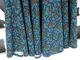 LulaRoe Teal Floral Print dress image 5
