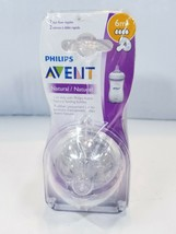 Pack of 4 Philips Avent Natural Fast Flow Nipples 6m+ - $19.05