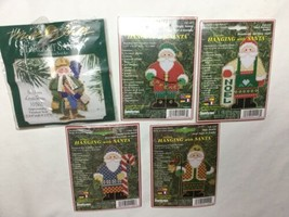 Janlynn Hanging with Santa Counted Cross Stitch Kits  Lot of 4 2001 - $22.41
