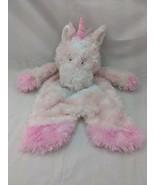Baby Ganz Sweet Iris Pink Unicorn Lovey Plush Security Blanket Flat a Pa... - $11.66