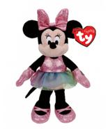 Ty Minnie Mouse Ballerina Pink Glitter Sparkle Disney Beanie Baby Plush ... - $11.87