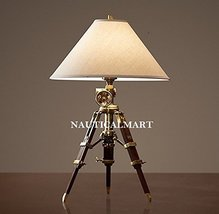 NauticalMart Royal Marine Tripod Table Antique Brass Lamp - Home Decor - $299.00