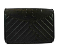 Tory Burch Women's ALEXA Combo Quilted Leather Crossbody Bag, Black, 8983-6 image 3