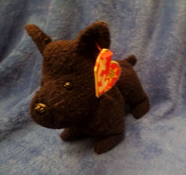 Primary image for Ty Beanie Baby Scottie 4th Generation Hang Tag Creased Tag