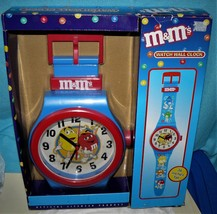 "M & M's Candy GIANT 36"" Tall Wrist Watch Wall Clock Quartz Accuracy (NEW) - $63.01"