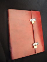 Very Large Lockable Journal, Handmade Leather - suit Guest Book, Book of... - $70.00