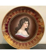 Vintage Austrian Royal Vienna Porcelain Portrait Wall or Cabinet Plate - $145.00