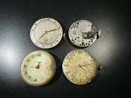 4 Wittnauer 10fl,76/2 ,10e, 11es movements and 3 dials for repair parts ... - $149.97