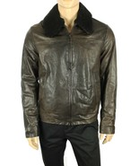 THE MENS STORE BLOOMINGDALES MADE IN ITALY 100% LAMBSKIN PILOT JACKET L ... - $269.99