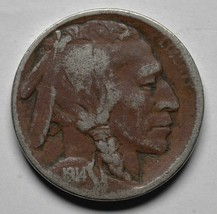 1914D Buffalo Nickel Coin Lot# A254