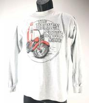 Broken Spoke Saloon Gray Long Sleeve Shirt Small Anvil Motorcycles 1992 ... - $19.79