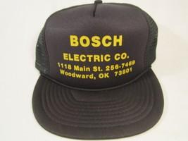VINTAGE HAT Mens Cap BOSCH ELECTRIC CO Woodward, Oklahoma [Y155h] - $17.28
