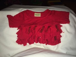 Build a Bear Red Top with Red Sequins 'Limited Too' - $5.93