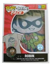 POP AND MINI PACK TEEN TITAN ROBIN TSHIRT XS X-SMALL FUNKO POP WITH FIGURE - $24.46