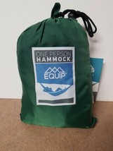 Equip ONE PERSON GREEN Travel 1.2 lb. Hammock 400 lb. Weight Capacity NEW - $27.99