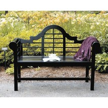 Achla Designs OFB-11 4-ft. Lutyens Outdoor Patio Wood Bench Black NEW - €184,61 EUR