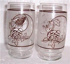 "Vintage (2) Paraglazed & Signed ""Butterfly"" Designed Tumbler Glasses Japan - $24.99"