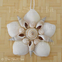 Seashell Flower Shell Christmas Ornament Wall Hanging Tropical Beach Hou... - $16.99