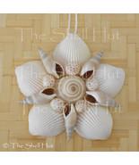 Seashell Flower Shell Christmas Ornament Wall Hanging Tropical Beach Hou... - $16.99