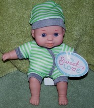 My Sweet Love Mini Baby Doll in Green & White Striped Outfit NWT - $5.88