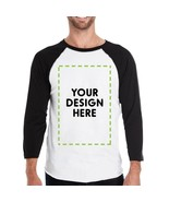 Custom Personalized Mens Black And White Baseball Shirt - $25.99