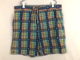 Polo Ralph Lauren Mens 3XB Orange Blue Green Aztec Swim Trunks Shorts - $18.59