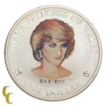 1997 Diana Princesa de Gales 1oz Cook Islas Plata Dólar Personalizable P... - $48.50