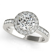 White Gold Plated 925 Pure Silver Round Cut Sim Diamond Women's Engagement Ring - $76.54