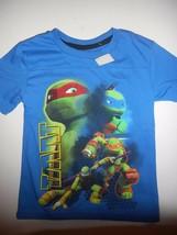Boys Size 4 Teenage Mutant Ninja Turtles Blue Short Sleeve Shirt New - $8.90