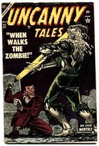 Uncanny Tales #21-1954-pre-code Horror-zombie cover. Atlas comics - $145.02