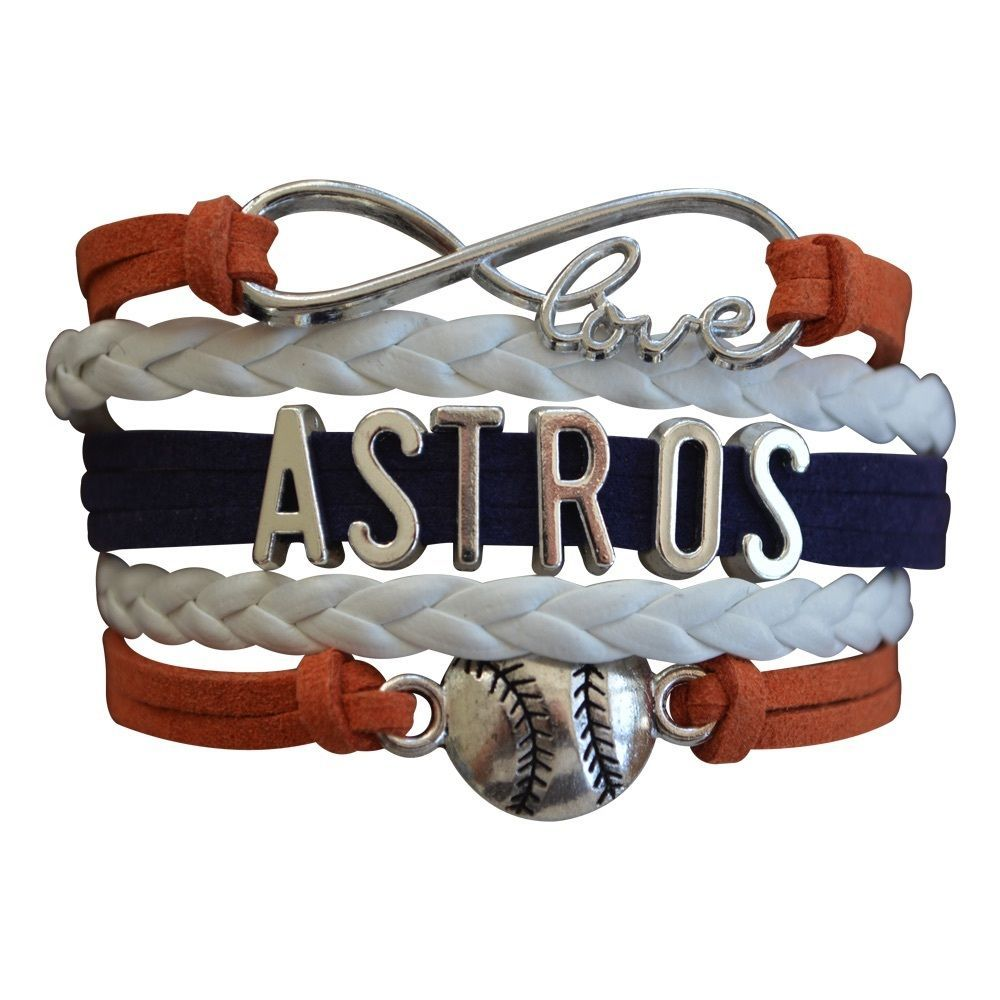 Houston Astros Bracelet, Houston Astros Jewelry and Perfect Baseball Fan Gift for sale  USA