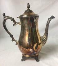 Wm Rogers and Son 2601 Silverplate Coffee Tea Pot Footed Ornate Pineappl... - $24.70