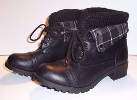Woman's Black Lace-Up Shoes / Boots by SODA - Size: 6 - Reduced Price - $9.50