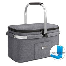 ALLCAMP Lightweight Picnic Basket Insulated Cooler Bags for 4 Person 32L... - $37.58