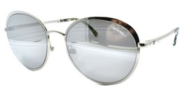 Chanel 4206 c.124/6G Women's Sunglasses Round Silver / Mirrored ITALY - $134.48